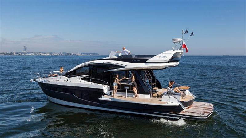 Galeon 510 Sky Beach Mode photo copyright Galeon taken at  and featuring the Power boat class