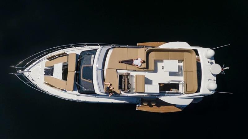 Galeon 460 Fly, aerial view photo copyright Galeon taken at  and featuring the Power boat class