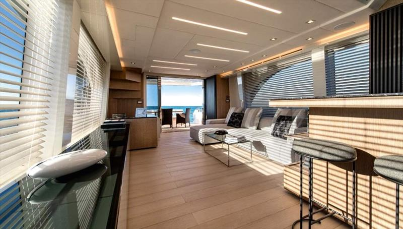 The new MCY 70 - photo © Monte Carlo Yachts