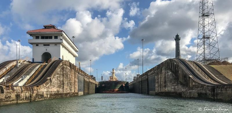 Transiting the Panama Canal photo copyright Sam Landsman taken at  and featuring the Power boat class