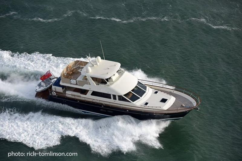 Hunt Ocean fast expedition yacht photo copyright Rick Tomlinson taken at  and featuring the Power boat class