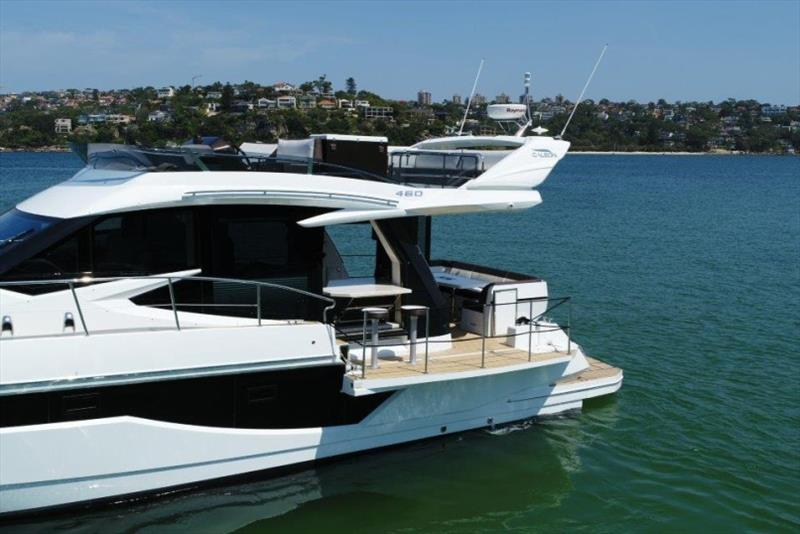 Unique `beach mode` fold out balconies - photo © Galeon Yachts