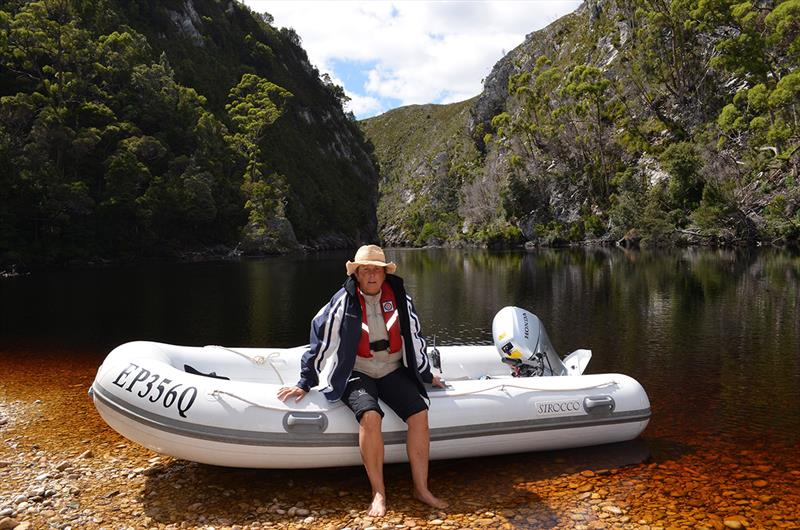 Taking Pascua Lama's tender into a Tasmanian river gorge. - photo © Riviera Australia