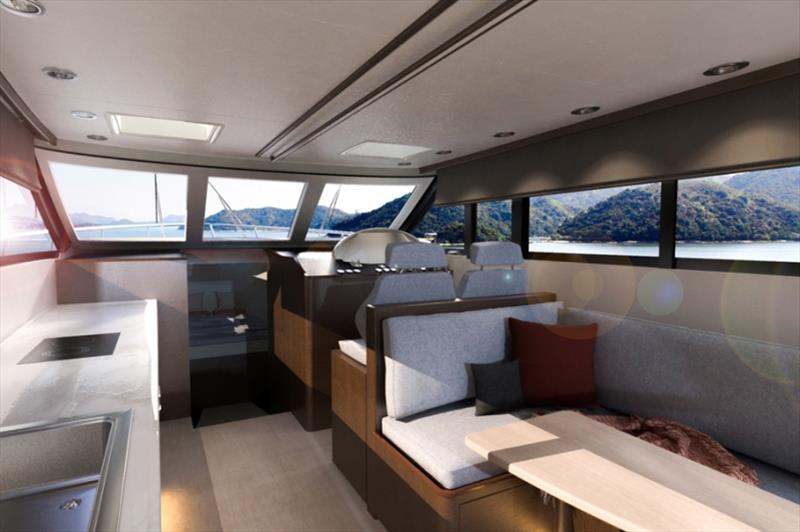 Newport 460 interior - photo © Newport Motor Yachts