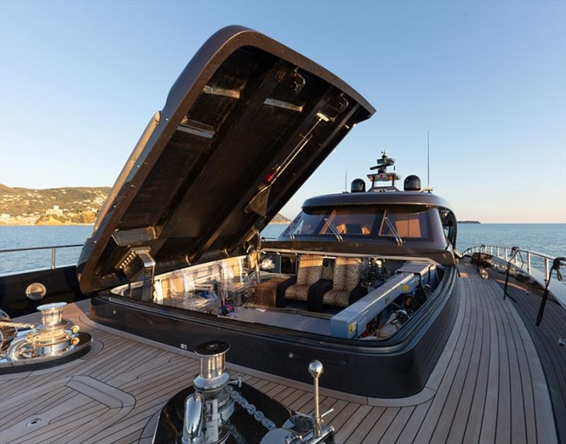 28m M/Y Freedom garage exteriors photo copyright Tommaso Spadolini taken at  and featuring the Power boat class