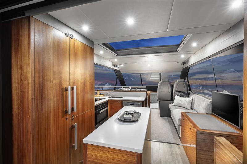 Maritimo X50 Galley - photo © Darren Gill