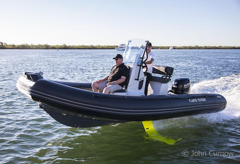 The SEAir 5.5m Flying Tender - a foiling RIB that is just huge fun! - photo © John Curnow