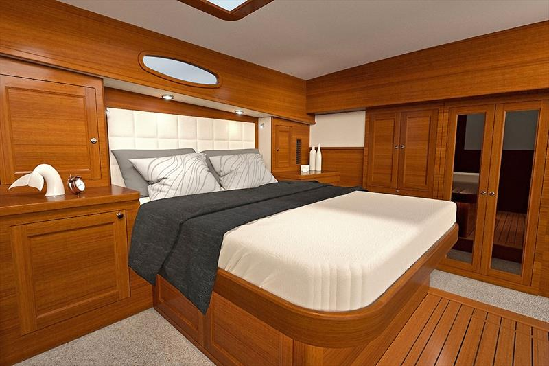 Master Stateroom of the new Grand Banks 54. photo copyright Grand Banks / Palm Beach taken at  and featuring the Power boat class