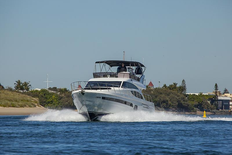 Bow out and making around 20 knots on the Longreef 60 SX - photo © John Curnow