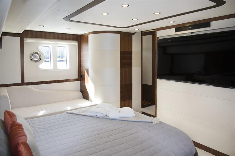 Master Stateroom in the Longreef 60 SX photo copyright Jennifer McKinnon taken at  and featuring the Power boat class