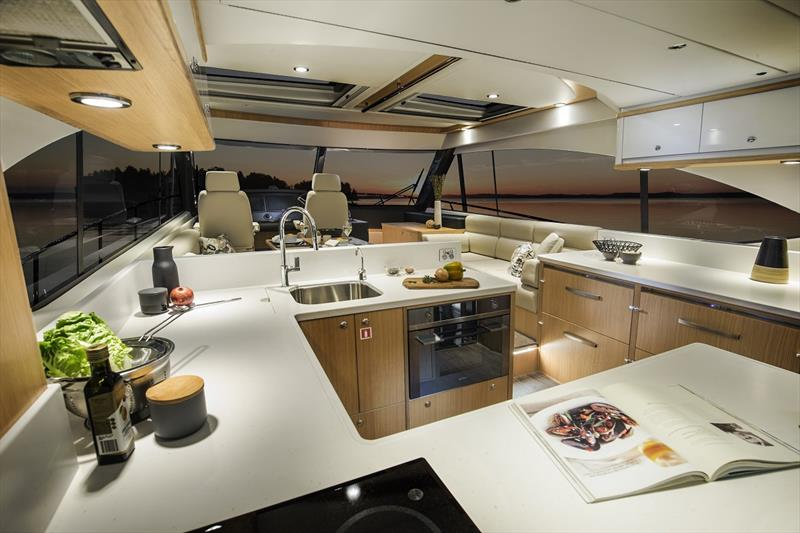 Riviera 545 SUV Saloon and Galley - photo © Riviera Studio