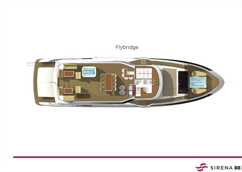 New Sirena 88 - Flybridge - photo © Sand People