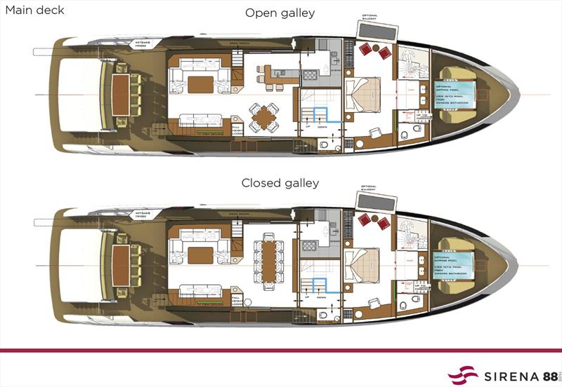 New Sirena 88 - Main deck - photo © Sand People