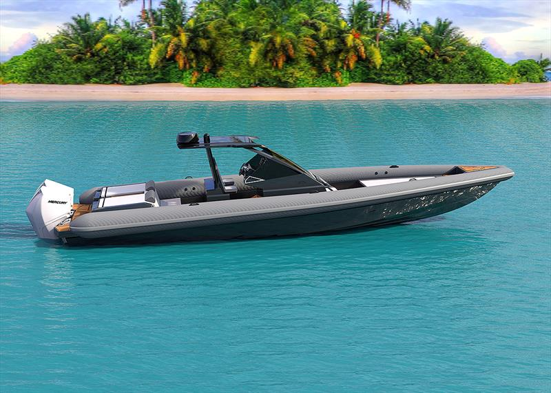 Technohull's new 38 Grand Sport photo copyright Sand People taken at  and featuring the Power boat class
