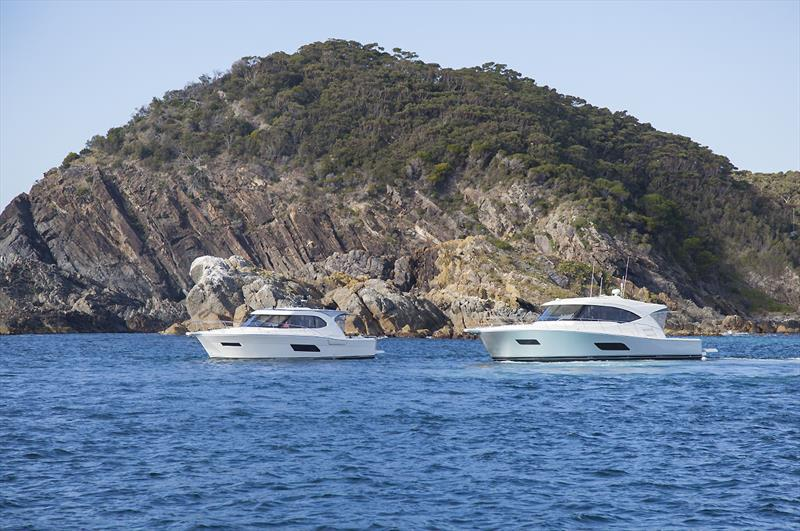 Riviera 445 and 545 SUVs at Seal Rocks - photo © John Curnow