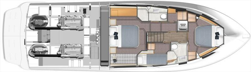 Riviera 505 SUV Accommodation photo copyright Riviera Australia taken at  and featuring the Power boat class