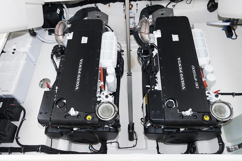 Twin Volvo Penta D6 engines onboard the Riviera 445 SUV - photo © Gary Compton