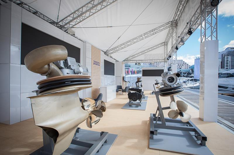 The Volvo Penta stand at the Sydney International Boat Show photo copyright Gary Compton taken at  and featuring the Power boat class