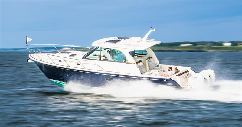 Hinckley Sport Boat 40x photo copyright Cate Brown taken at  and featuring the Power boat class