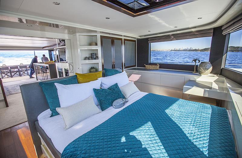 Owner's Stateroom is on the main deck, right up for'ard. - photo © John Curnow