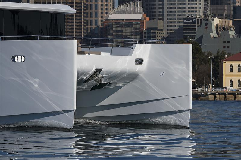 Effortless and Efficient - slippery hull form of the ILIAD 70 - photo © John Curnow