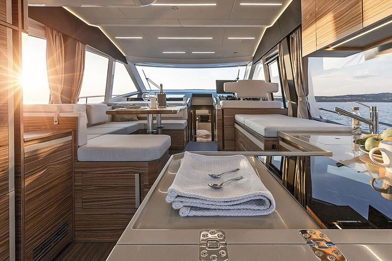 Greenline 45 Fly salon - photo © Greenline Yachts