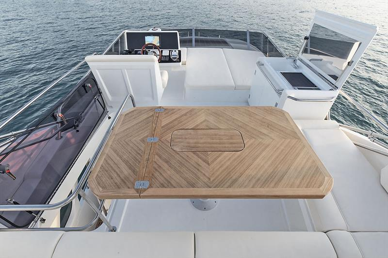 Greenline 45 Fly - Flybridge table BBQ - photo © Greenline Yachts