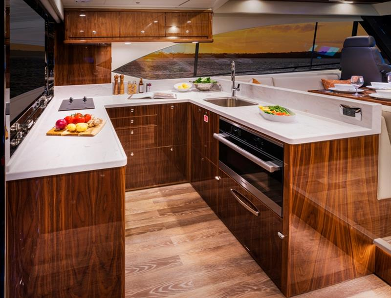 Riviera 545 SUV Galley - photo © Riviera Australia