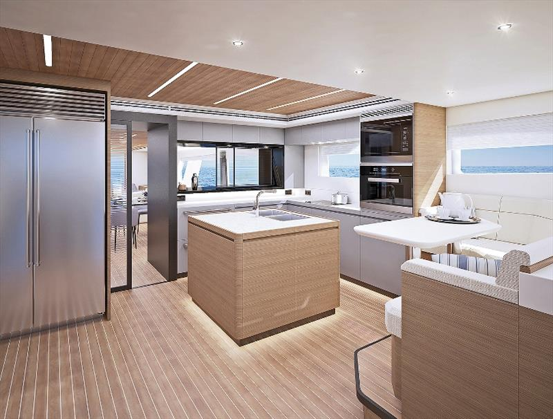 CLB88 Interior Galley - photo © CL Yachts