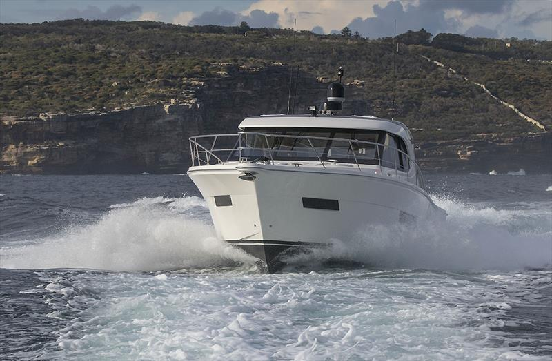 The Riviera 445SUV, now with the 480hp Volvo Penta inline sixes - Riviera trip Gold Coast to Sydney - photo © John Curnow