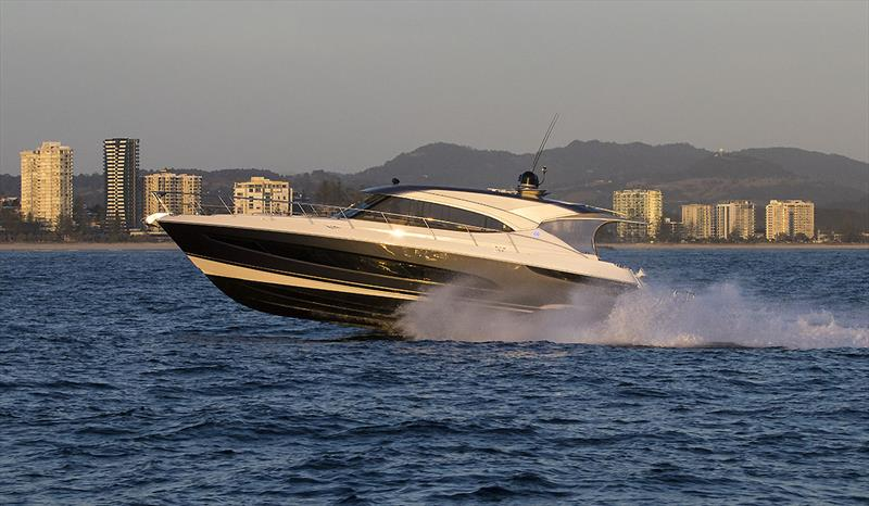 GIDDY UP! Riviera 5400 Sport Yacht can march onto 35 knots - Riviera trip Gold Coast to Sydney - photo © John Curnow