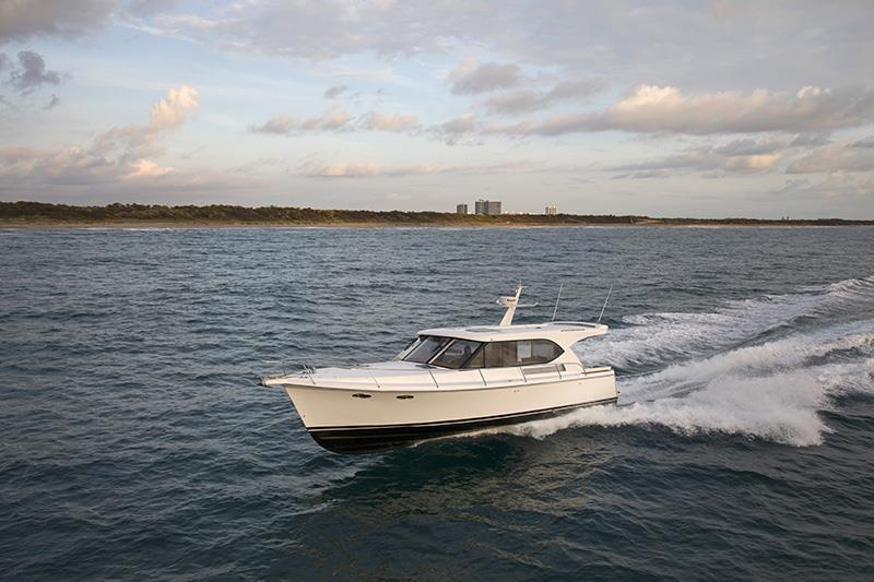 Hylas M44 in Palm Beach FL photo copyright Billy Black taken at  and featuring the Power boat class