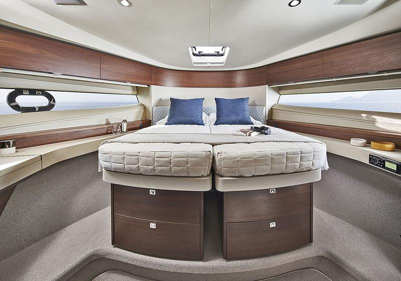 Princess Yachts F50 - Forward Guest Cabin (Closed Bed) - photo © Princess Yachts