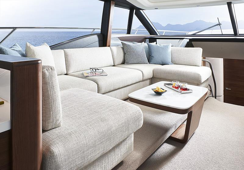 Princess Yachts S66 - Saloon Seating Area - photo © Princess Yachts