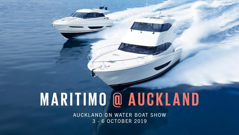 Maritimo at 2019 Auckland on Water Boat Show photo copyright Maritimo  taken at  and featuring the Power boat class
