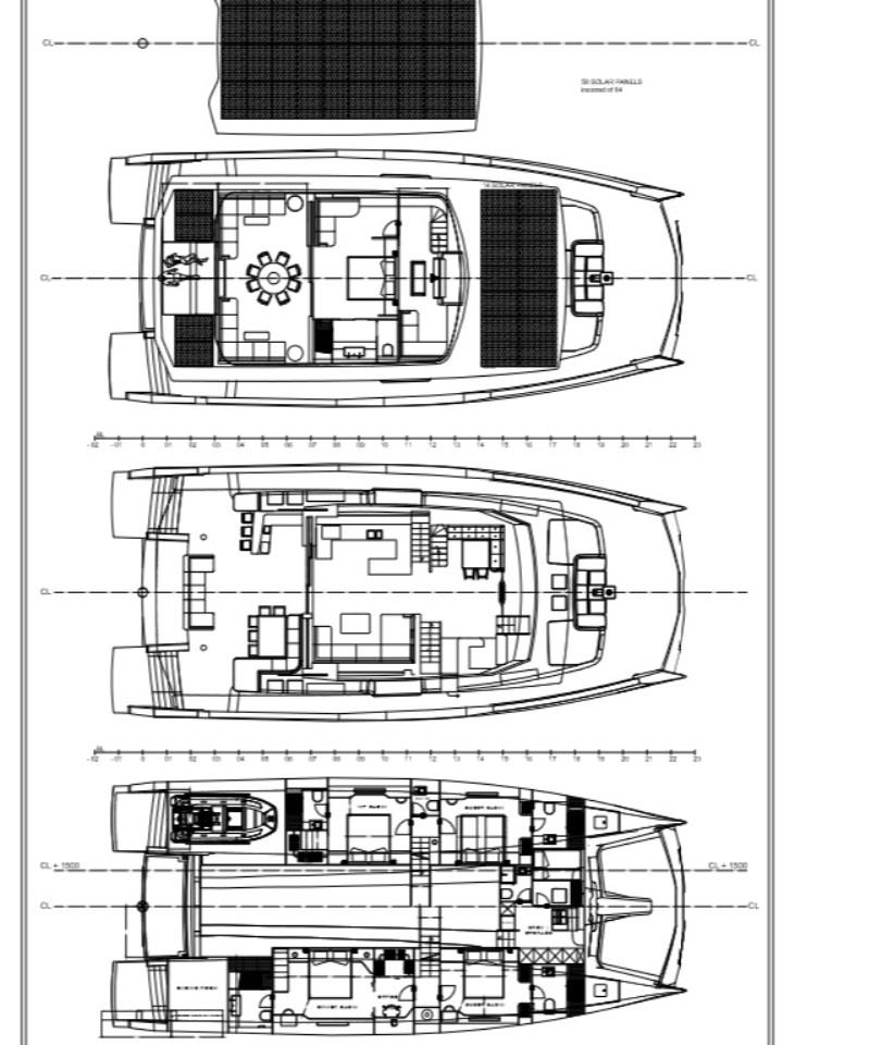 Silent 80 - 3 deck closed fly, owner´s cabin on upper deck, 4xVIP, 2xcrew - photo © Silent Yachts