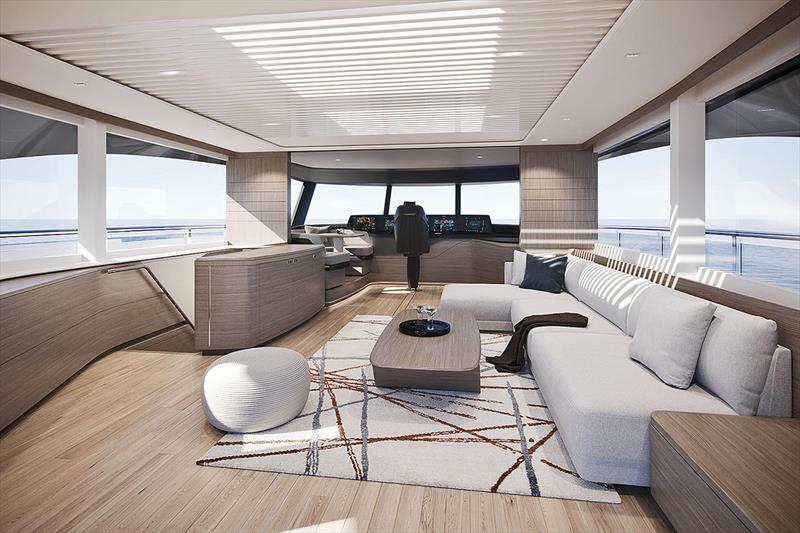 Princess X95 Skylounge - photo © Princess Yachts