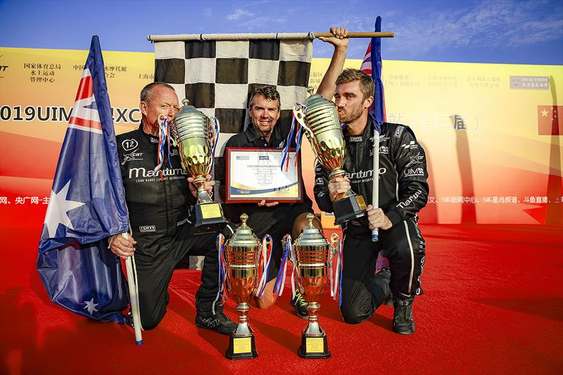 Maritimo after their win in the UIM XCAT at Shanghai - photo © Raffaello Bastiani