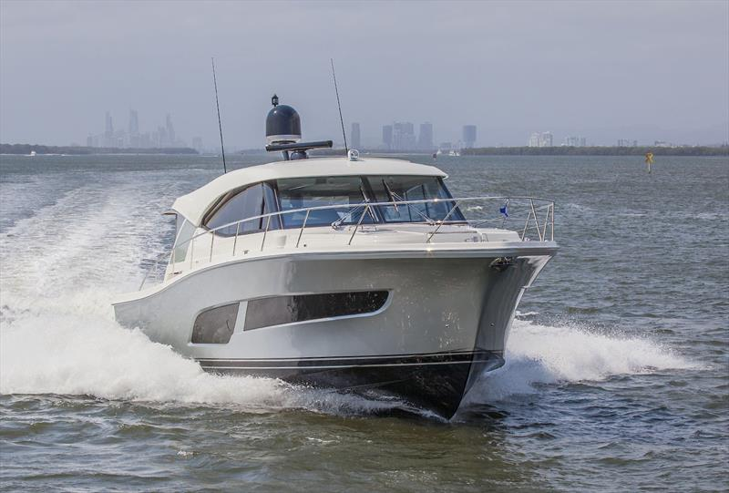 Premiering at the 2020 Miami International Boat Show is Riviera's new 505 SUV and we drove it on the Gold Coast before she was placed on the ship. - photo © John Curnow