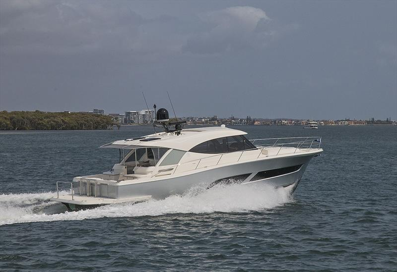 Leisurely cruise at around 24 knots - Riviera 505 SUV World Premiere - photo © John Curnow