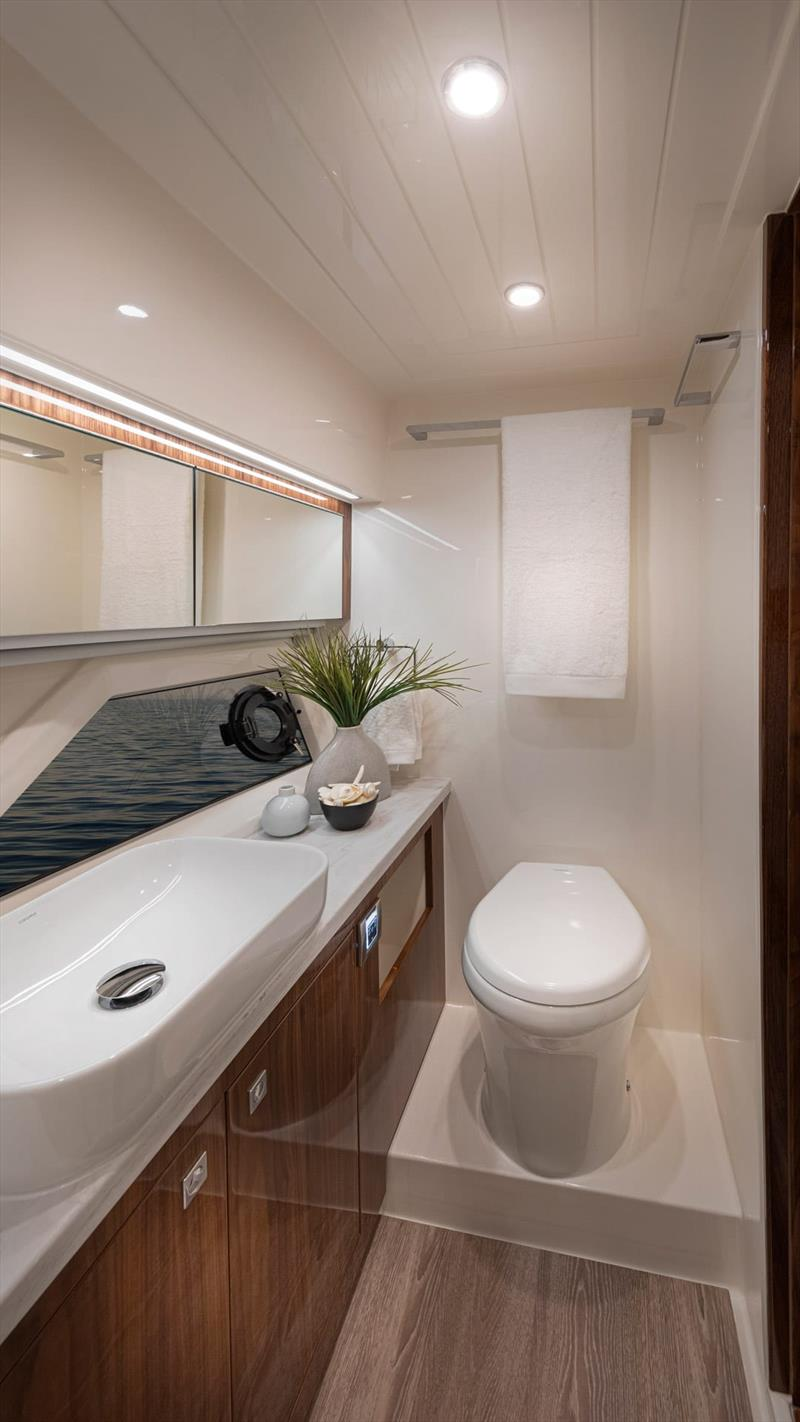 The head in the Master En Suite - Riviera 505 SUV World Premiere - photo © Riviera Australia