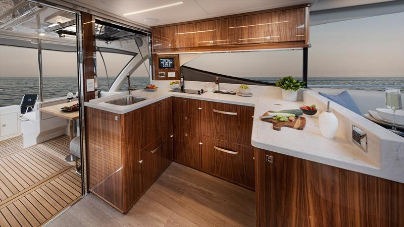 Galley fit for a magnificent meal - Riviera 505 SUV World Premiere - photo © Riviera Australia