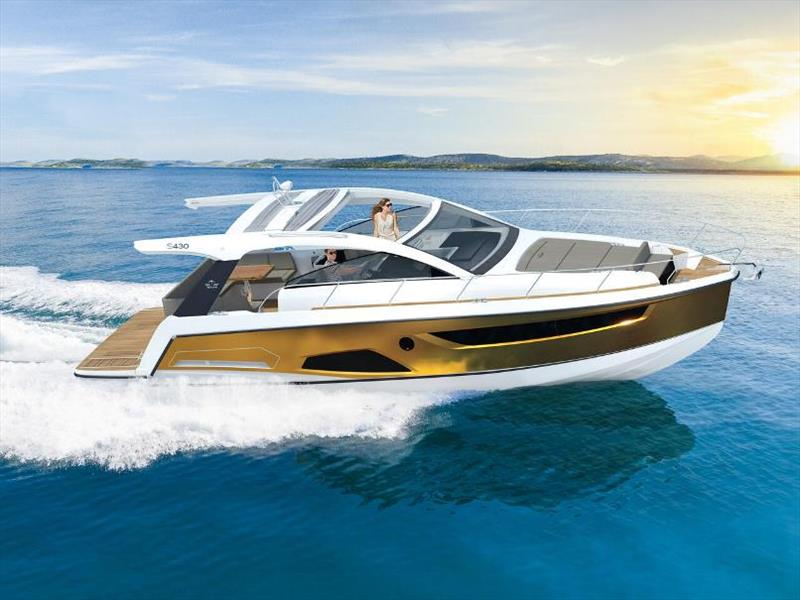 Sealine S430 photo copyright HanseYachts taken at  and featuring the Power boat class