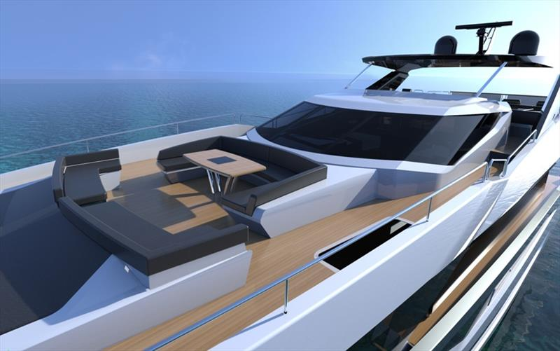 Sunseeker's new 100 Yacht photo copyright Sunseeker International taken at  and featuring the Power boat class