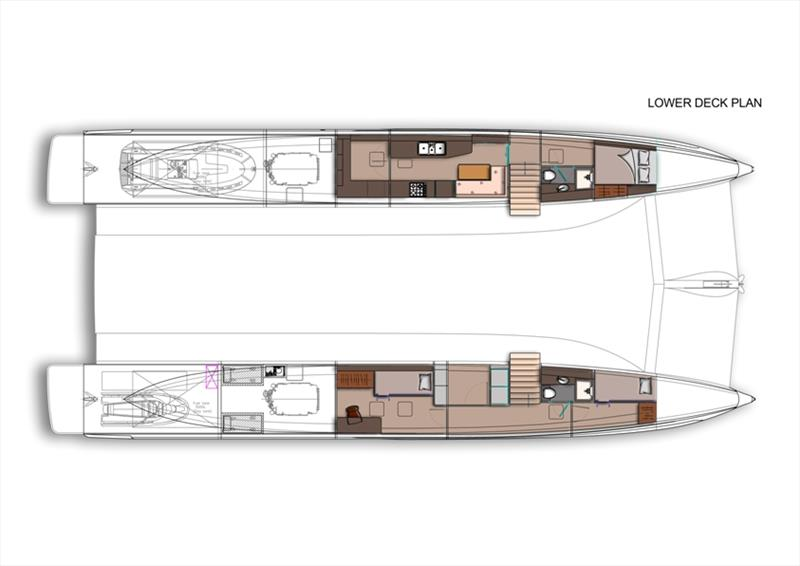 Amasea 84 Lower Deck Plan photo copyright Amasea Yachts taken at  and featuring the Power boat class