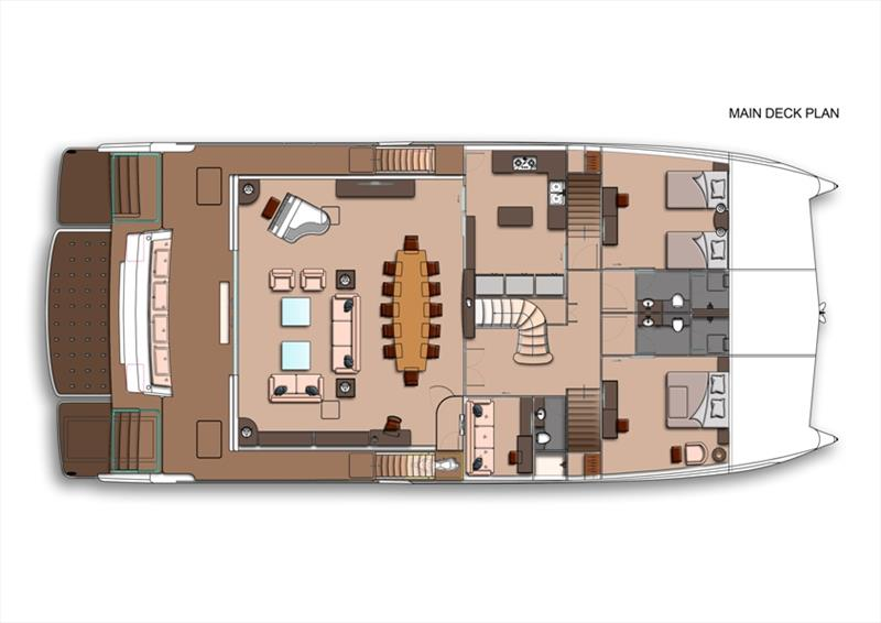 Amasea 84 Main Deck Plan photo copyright Amasea Yachts taken at  and featuring the Power boat class