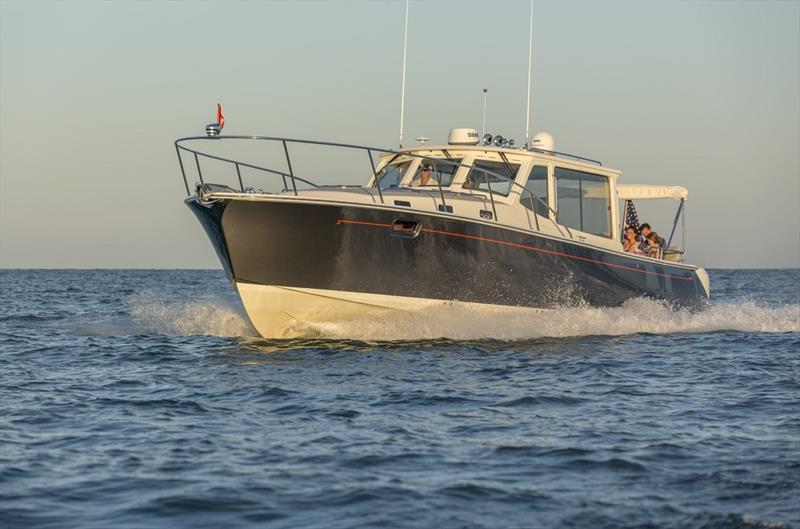 MJM 43z photo copyright Jim Raycroft taken at  and featuring the Power boat class