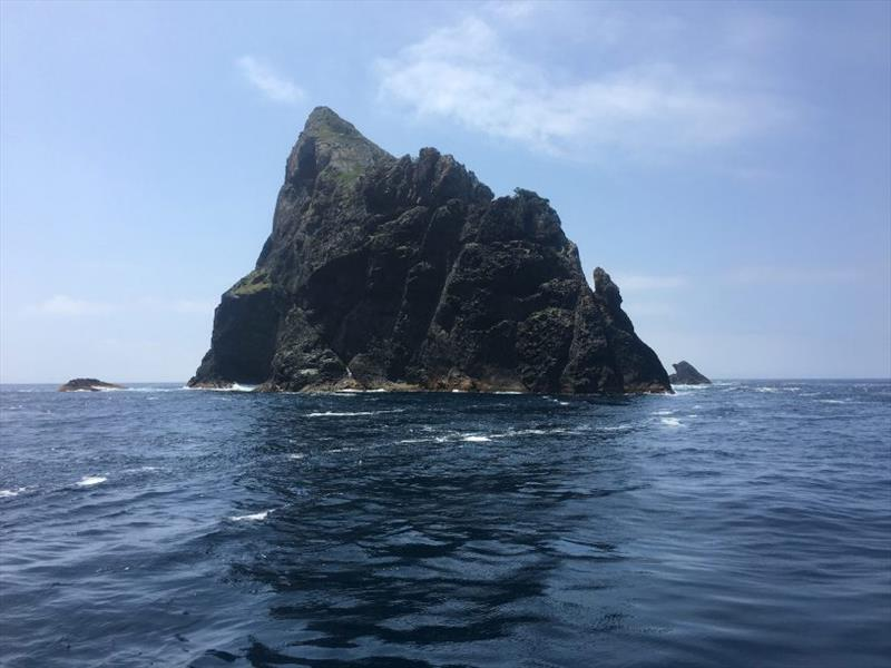 Ball's Pyramid, the tallest volcanic stack in the world. photo copyright Riviera Australia taken at  and featuring the Power boat class