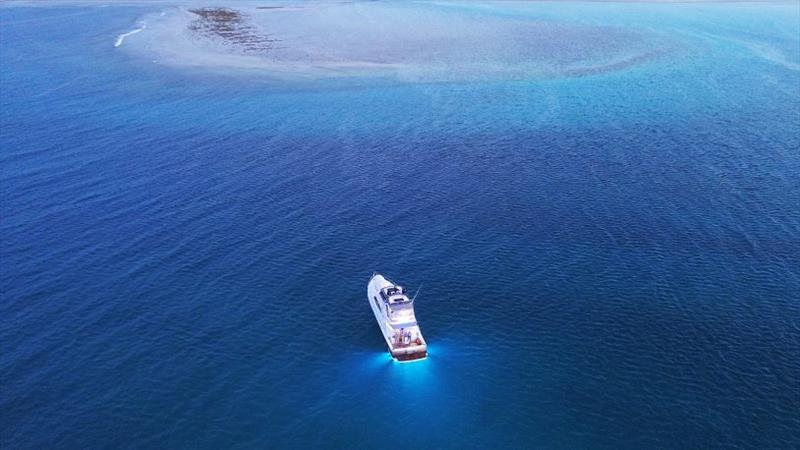 Vibing Elizabeth Reef photo copyright Riviera Australia taken at  and featuring the Power boat class