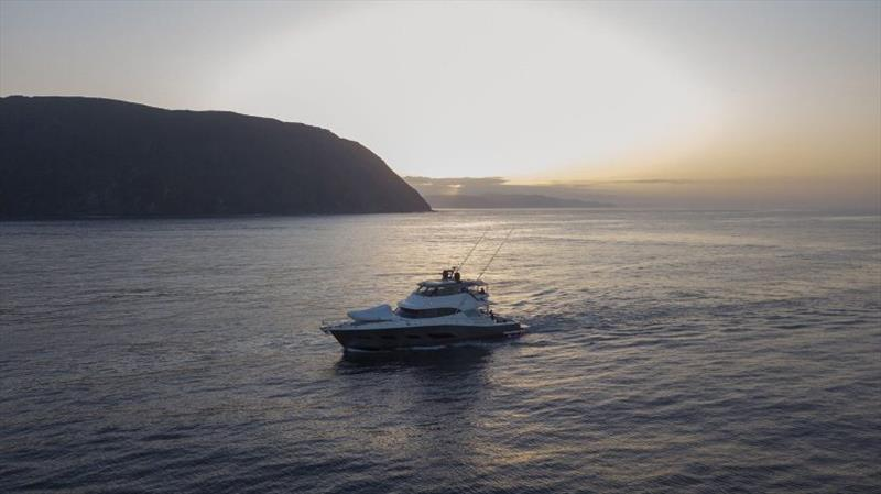 Our Vibe cruising the North Cape. photo copyright Riviera Australia taken at  and featuring the Power boat class